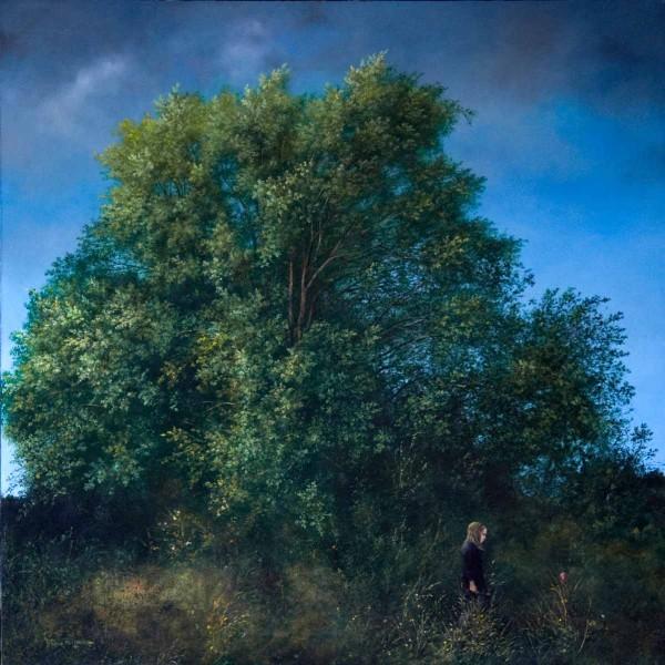 Alice Lidell (Il Regno del Pettirosso), 80x80, Oil on Canvas