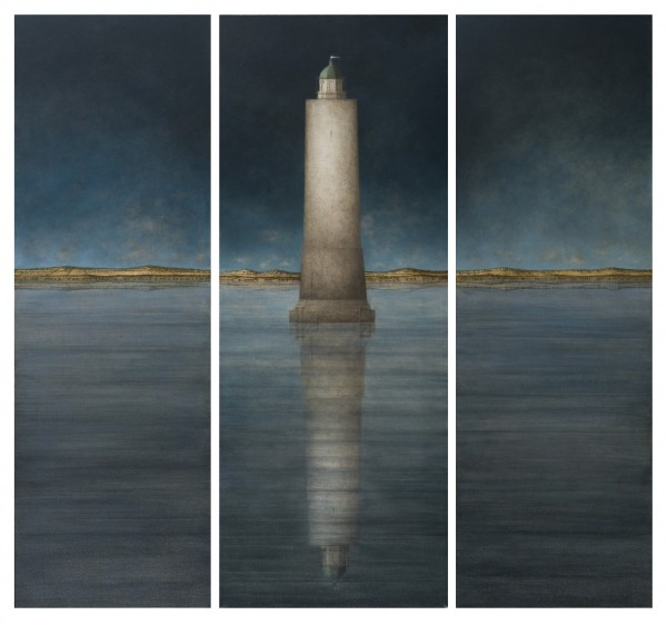 Faro (Triptych), 90x95, Oil on Canvas