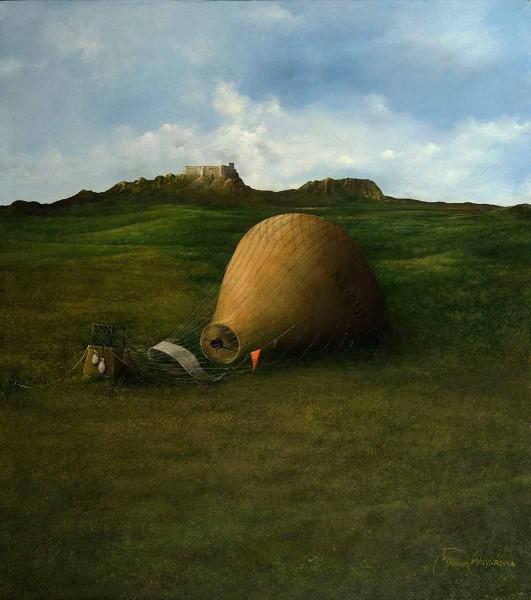 Icaro (La Promessa Non Mantenuta), 45x40, Oil on Canvas