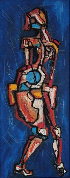 Ice Ballet, 60x23, Oil on Canvas