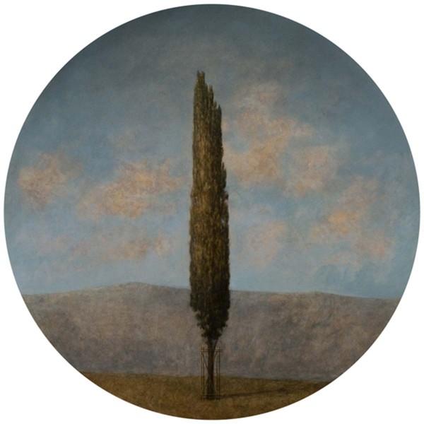 Il Confine I, 26x26, Oil on Canvas