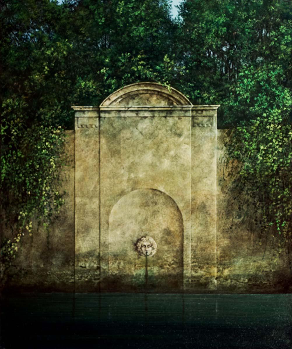 Il Giardino della Ninfa, 60x50, Oil on Canvas