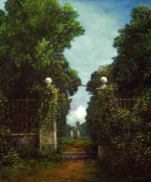 Il Segreto del Bosco Vecchio, 60x50, Oil on Canvas