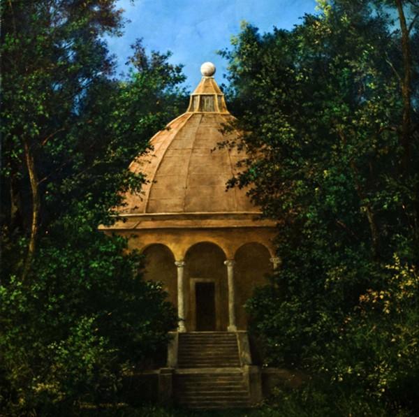Il Tempio della Foresta d'Oriente, 40x40, Oil on Canvas