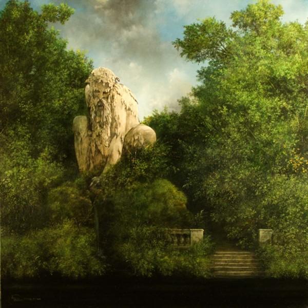 Il Vecchio Appennino, 70x70, Oli on Canvas
