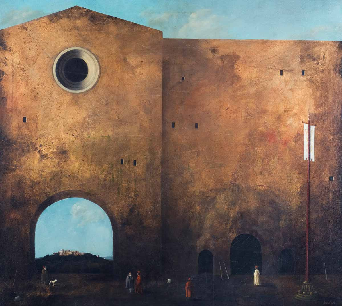 La Grande Casa d'Oro, 80x90, Oil on Canvas