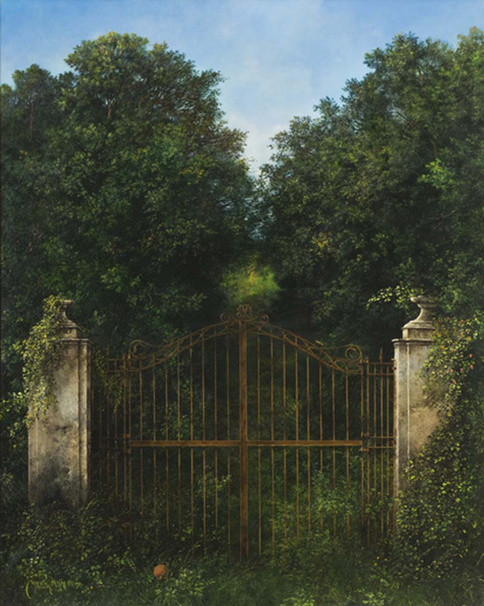La Porta della Diga, 100x80, Oil on Canvas