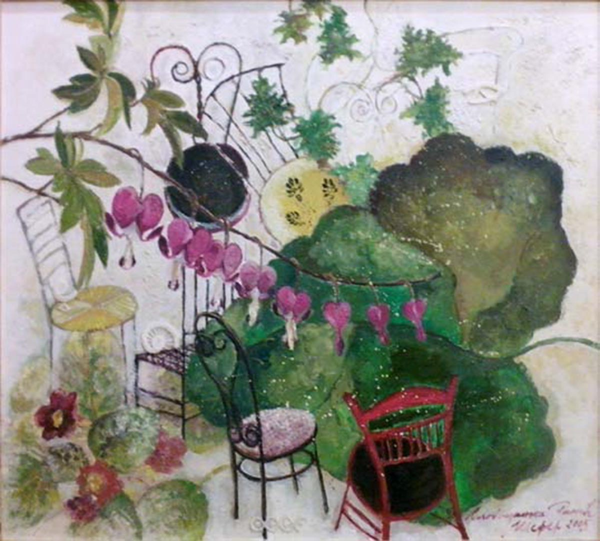 Greta Loved her Garden, 60x72, Oil on Canvas