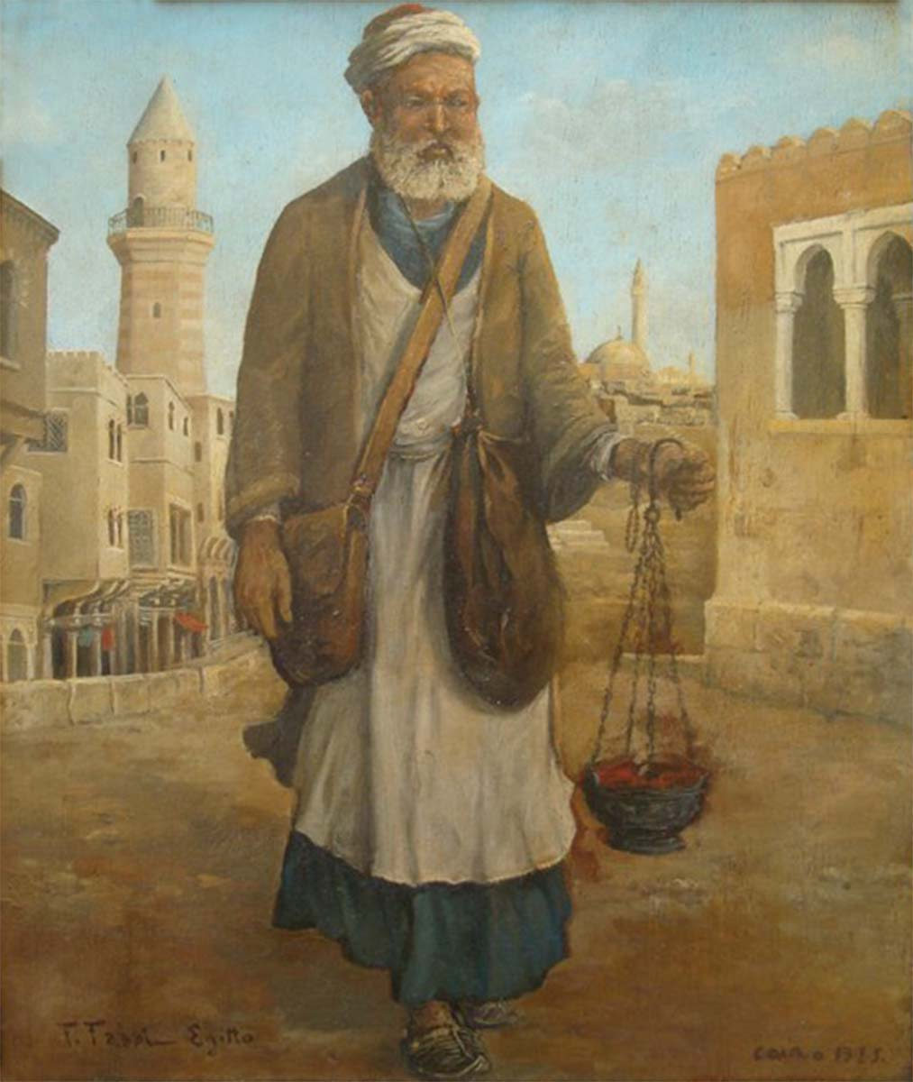 L'Imam Cairo, 45x36, Oil on Panel