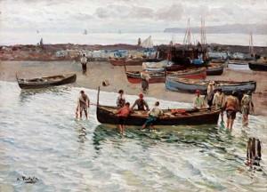 Napoli Mergellina, 22x29, Oil on Canvas