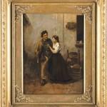 Fidanzatini, 45×35, Oil on Canvas, Framed