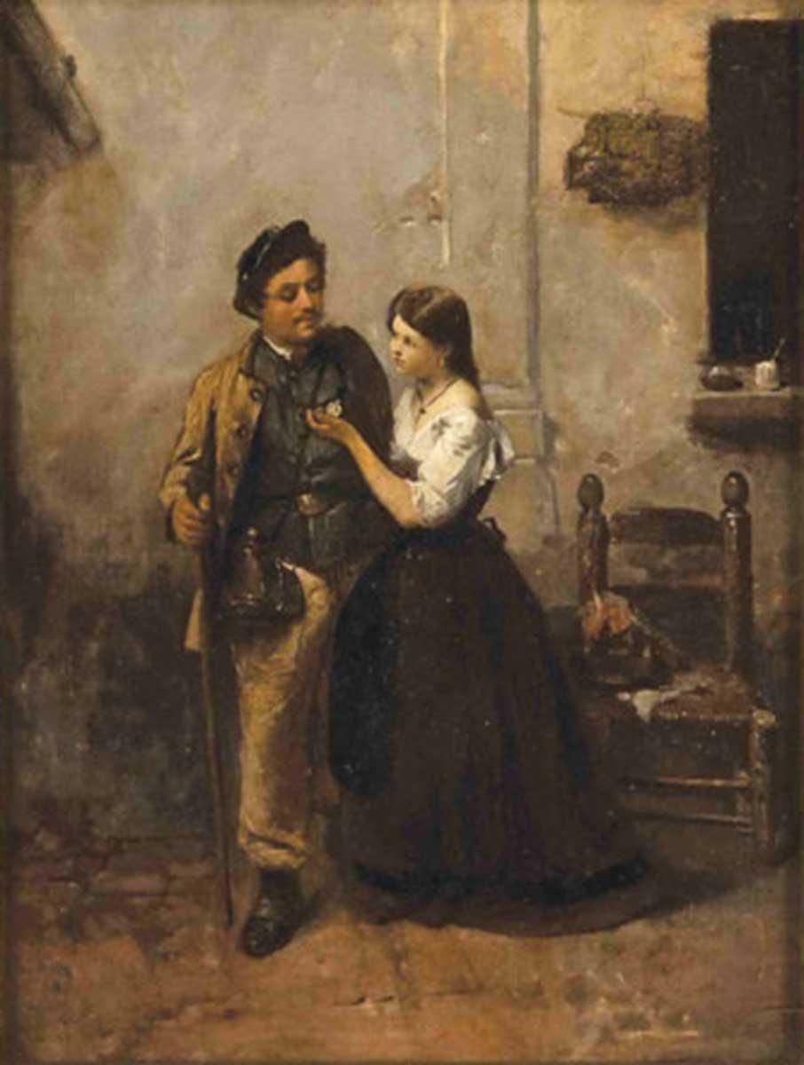 Fidanzatini, 45x35, Oil on Canvas