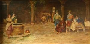 Osteria Romana, 61x111, Oil on Canvas
