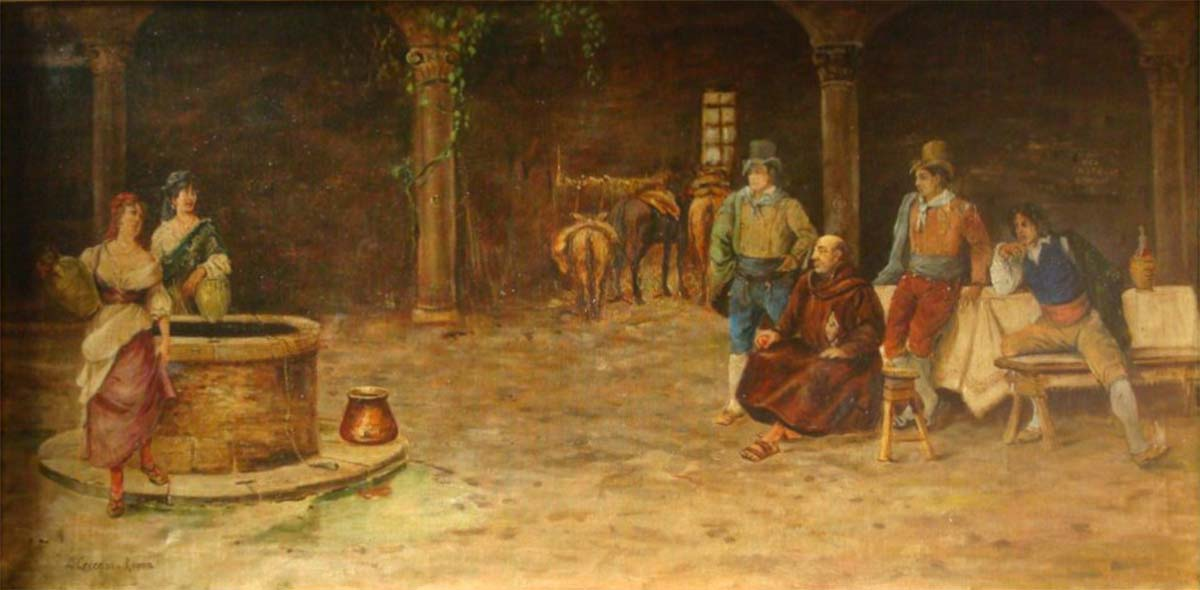 Osteria Romana, 61x111, Oil on Canvas