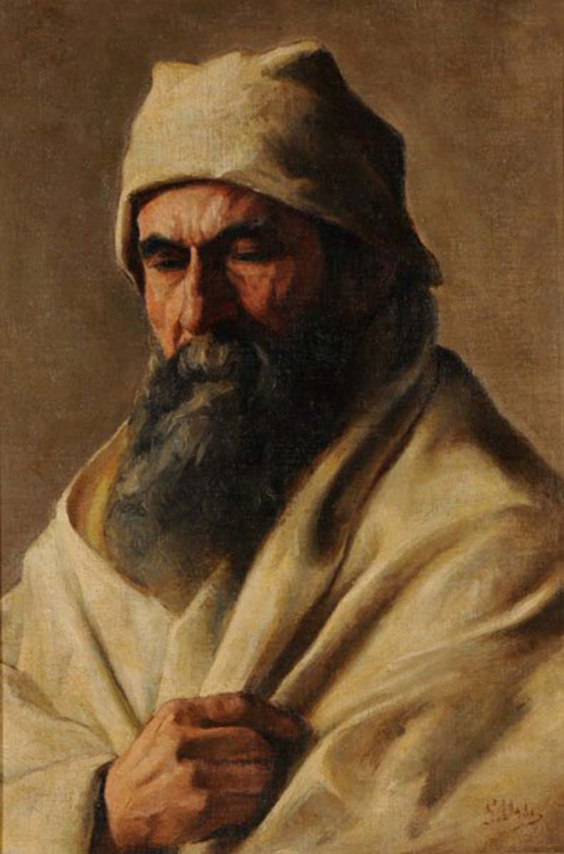 Vecchio Beduino, 61x45, Oil on Canvas