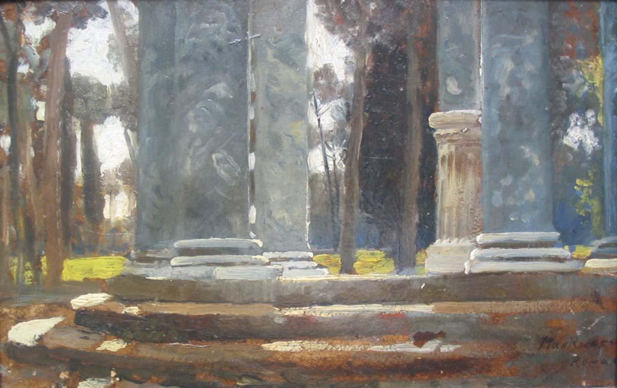 Villa Borgese, 20x30, Oil on Paper