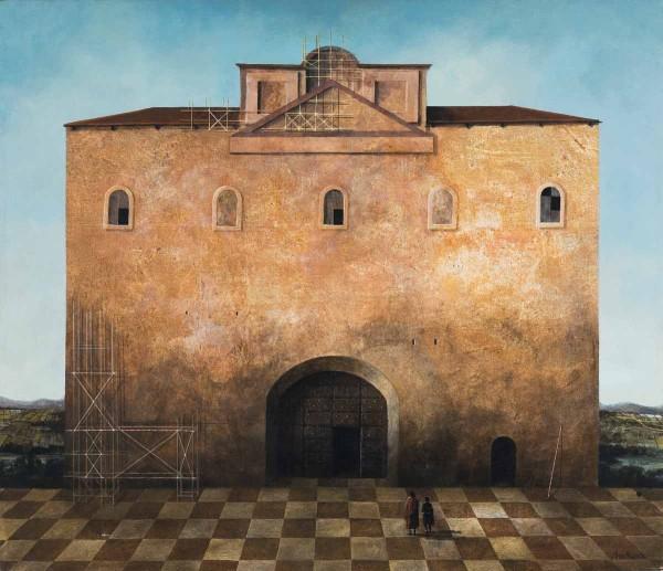Piazza del Castello, 60x70, Oil on Canvas