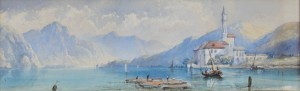 Lake Como, 17x53, Watercolour on Paper