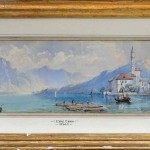 Lake Como, 17×53, Watercolour on Paper, Framed