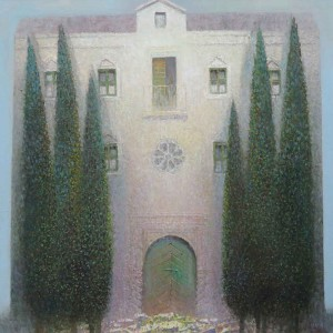 Mediterranean House and Cypresses