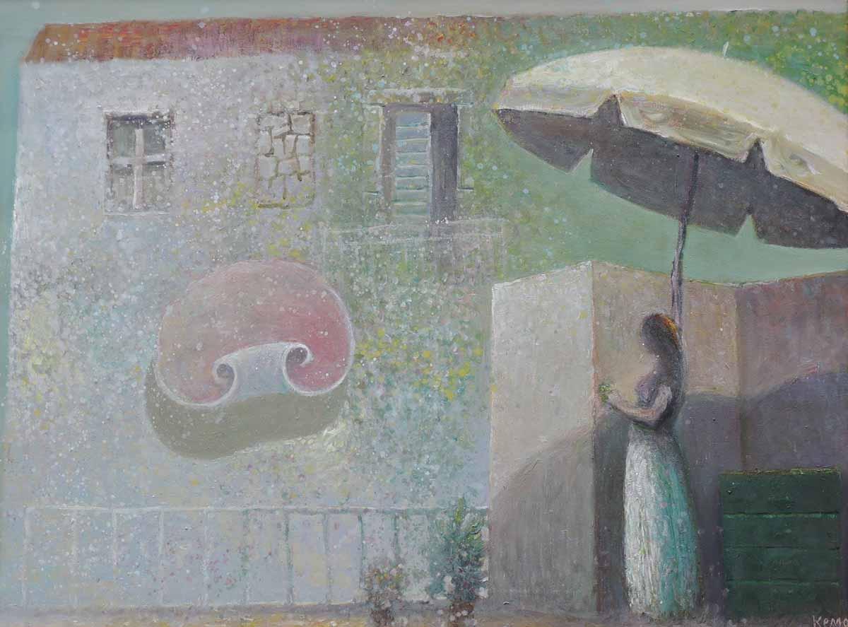 Parasol Girl, 60x80, Oil on Canvas