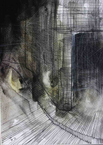 Shelter, 27x19, Mixed Media on Paper