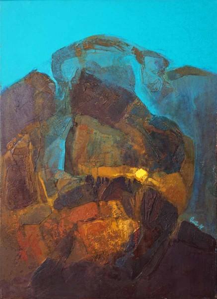 Atoll of Civilisation, 70x50, Oil on Canvas