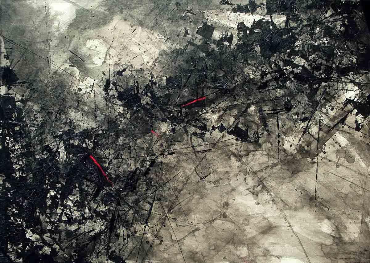 Bats Above Us, 50x70, Acylic on Canvas