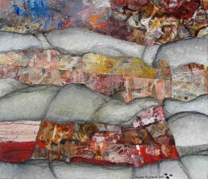 Abstract Landscape, 70x80, Collage & Mixed Media on Canvas
