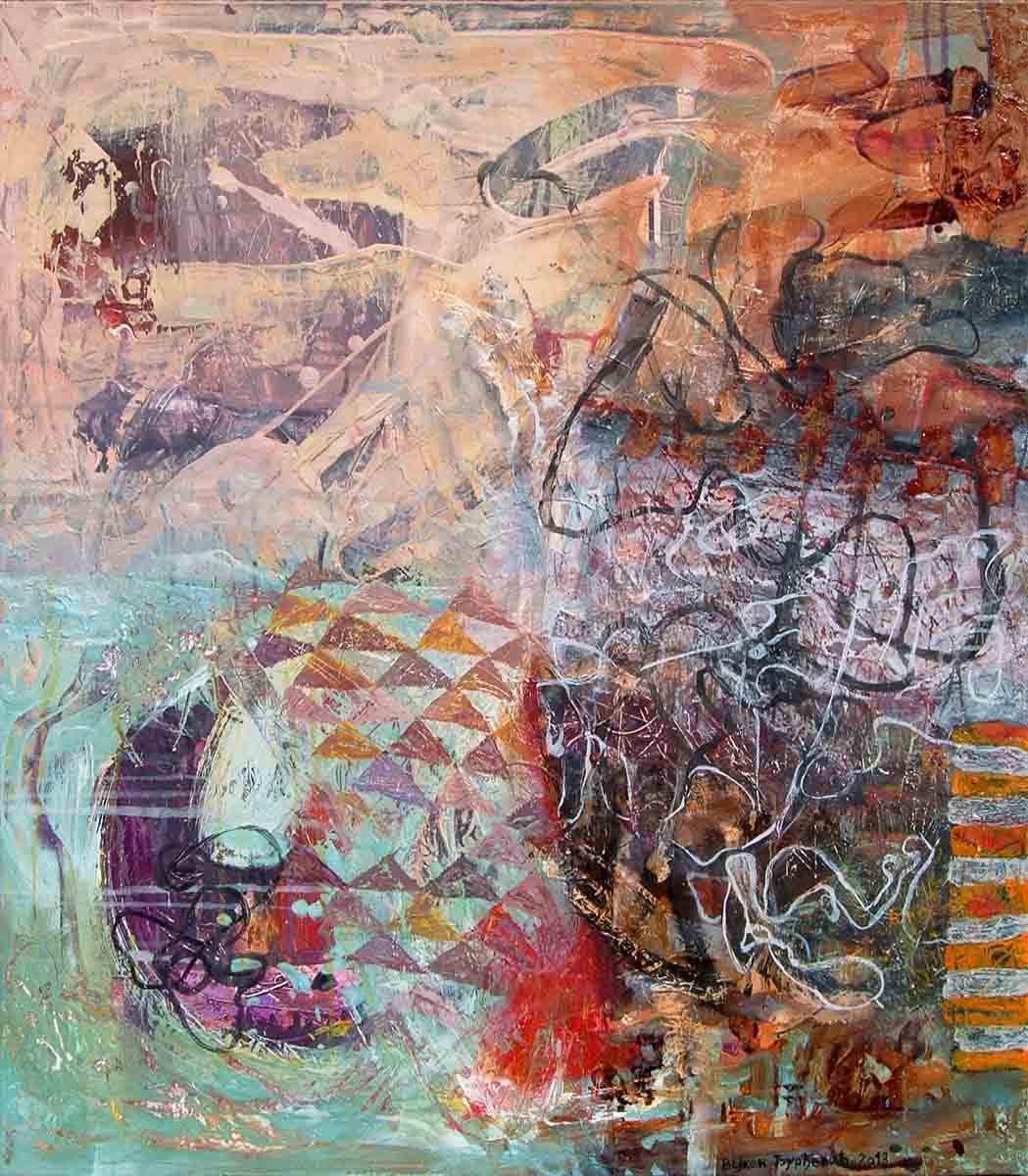 Be Related to Poetry, 80x70, Mixed Media on Canvas