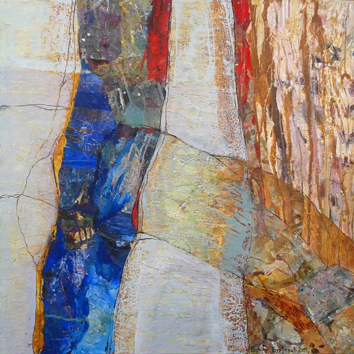 Grafting of the Wisdom, 70x70, Collage & Mixed Media on Canvas