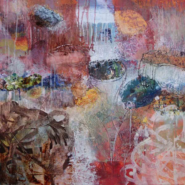 Indian Summer - The Weight of Dream, 70x70, Mixed Media on Canvas