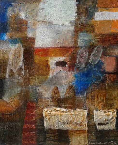 Local Wall, 80x65,Mixed Media on Canvas