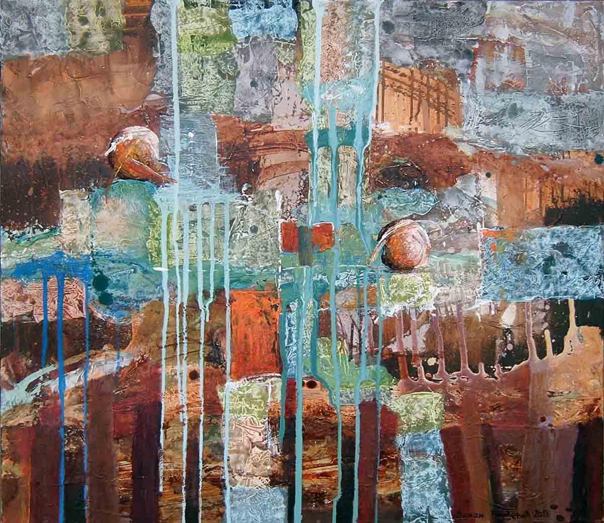 Serpentine, 70x80, Acrylic on Canvas