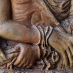 Christ Mocked, 57x30x4, Woodcarving, Detail