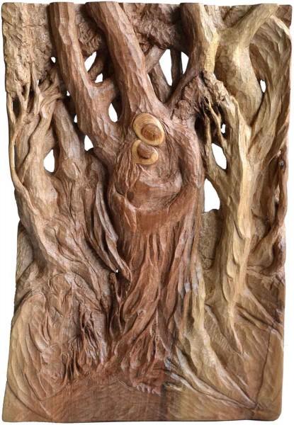 El Sueño (Dream), 35x24x3, Woodcarving