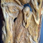 Quo Vadis, 61x31x4, Woodcarving, Detail