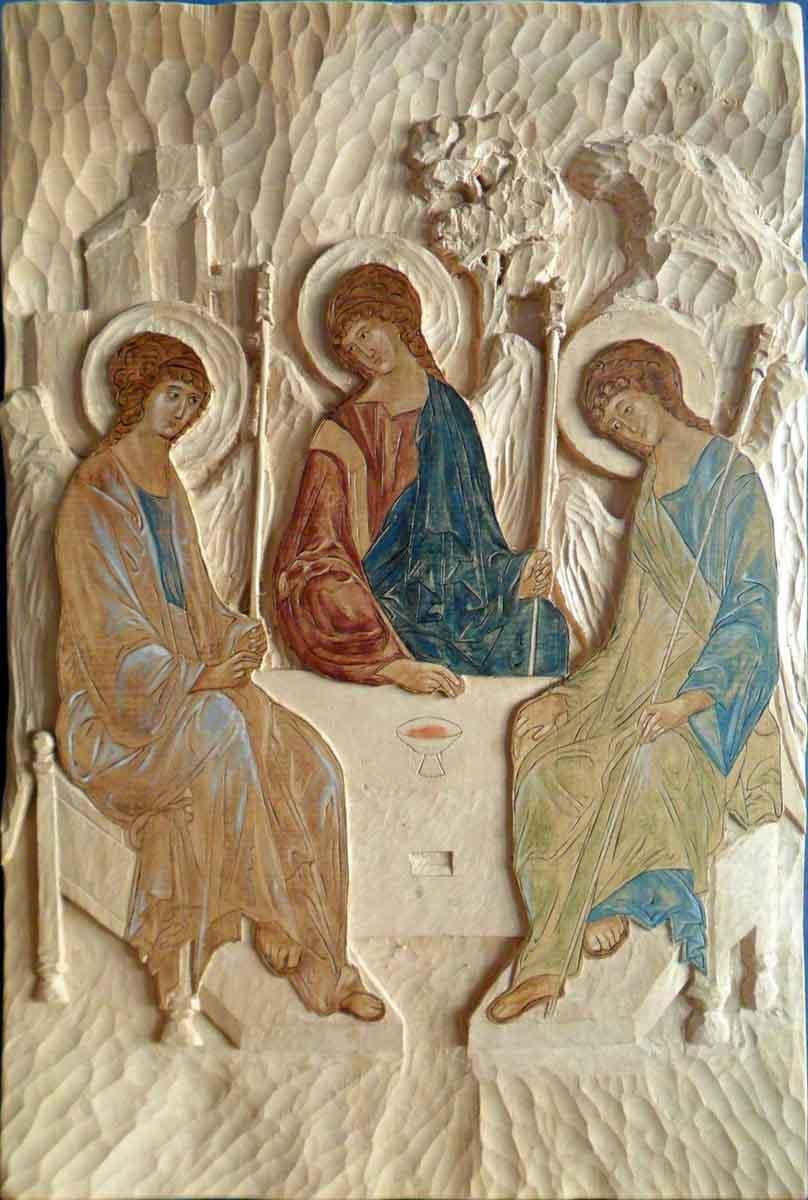 Sancta Trinitas, 50x34x5, Woodcarving