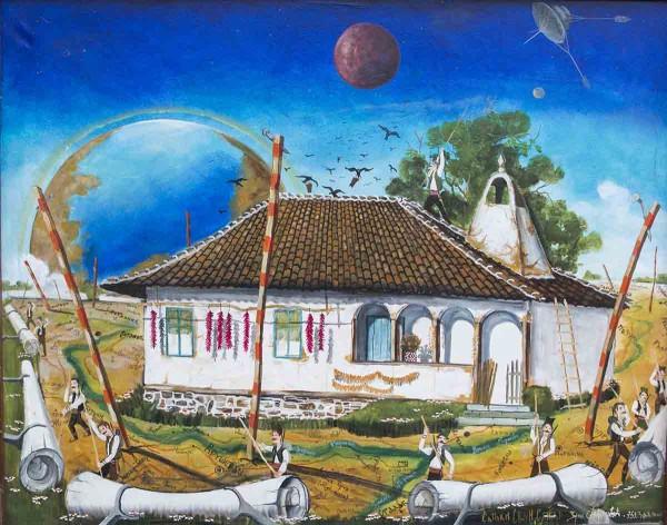 The Last House, 90x110, Oil on Canvas