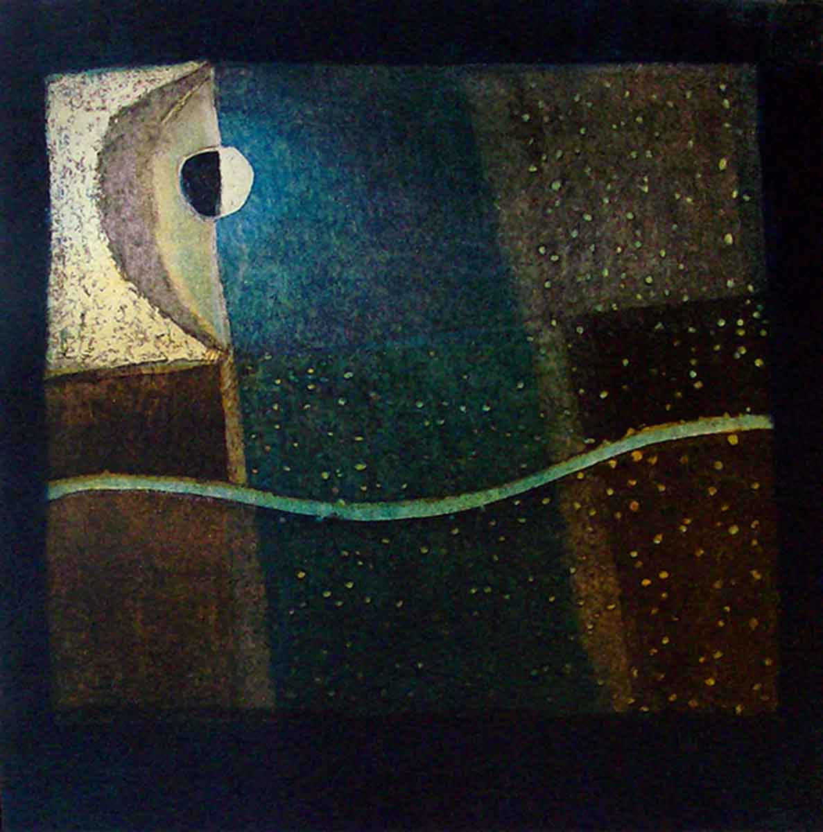 Equinox, 30x30, Aquatint on Paper