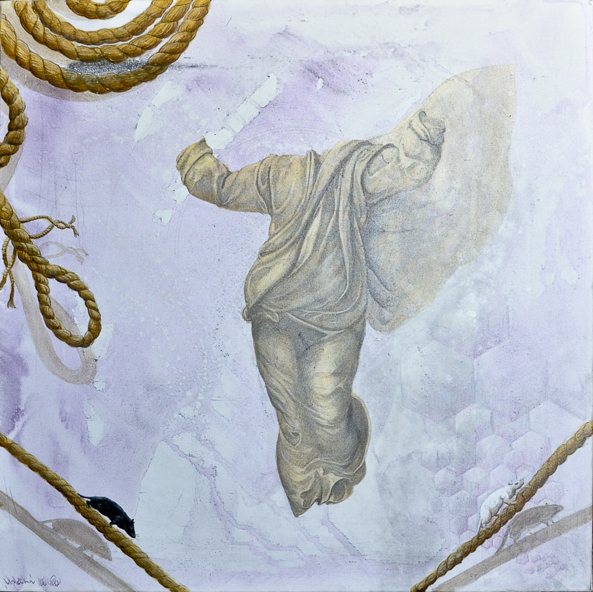 Christ the Saviour (Ariadne's Thread), 60x60, Acrylic on Canvas