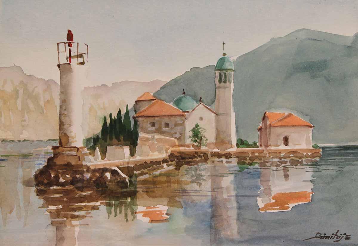 Bocche di Cattaro, 19x27, Watercolour on Paper