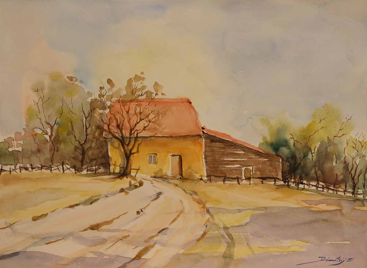 Casa Gialla, 26x38, Watercolour on Paper