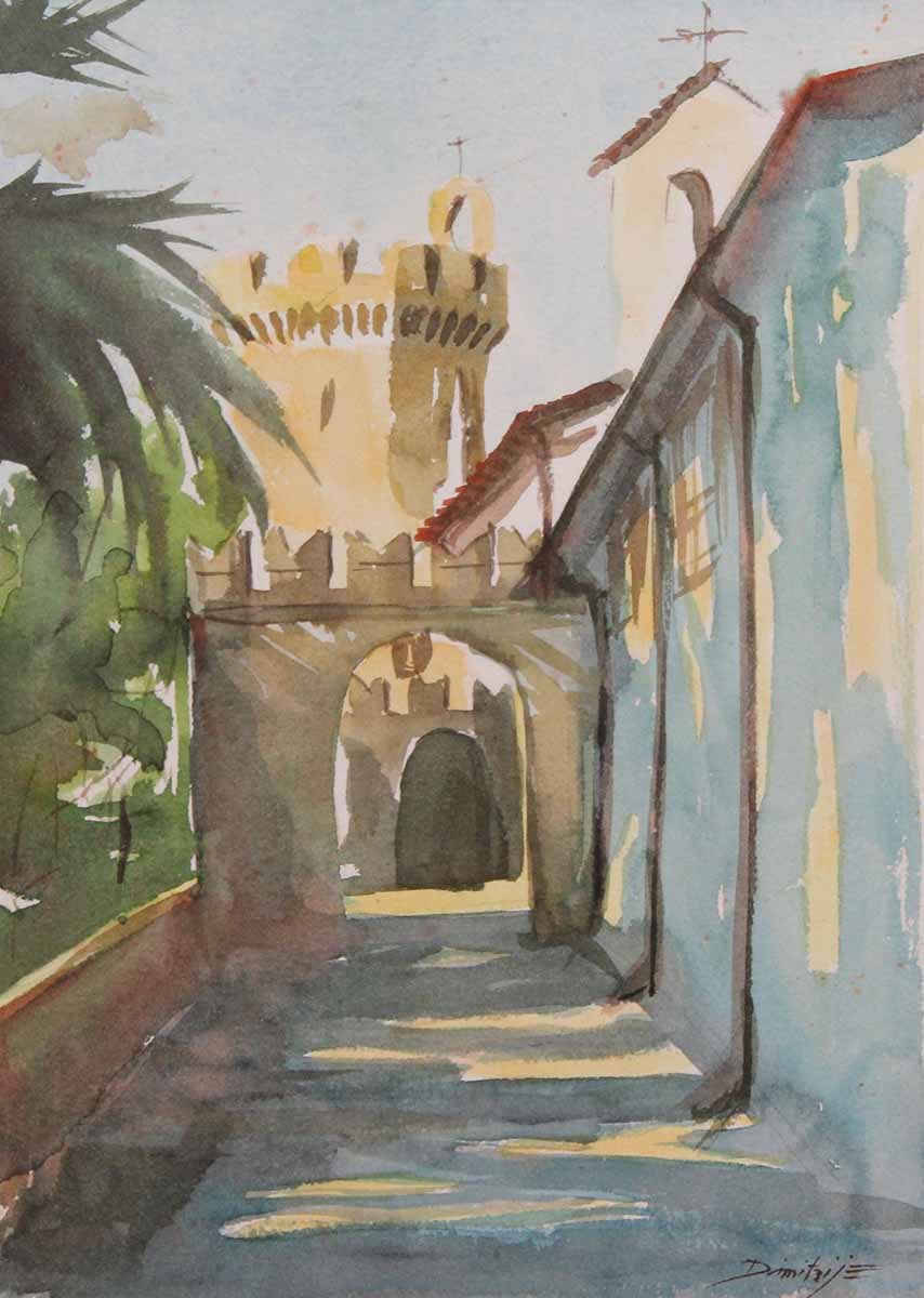 Castello - Entrata, 34x24, Watercolour on Paper