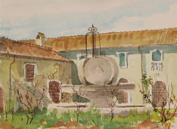 Castello di Santa Severa - Interno, 26x35, Watercolour on Paper