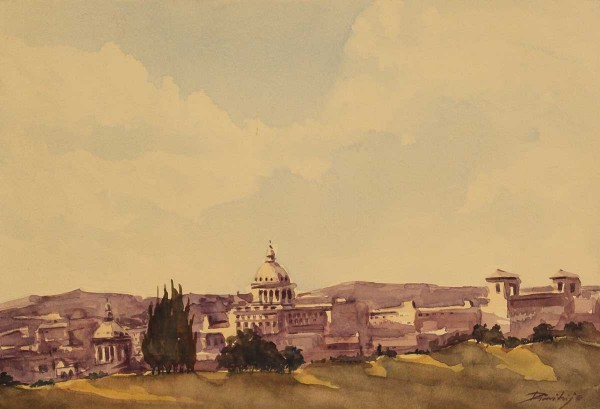 Roma - Panorama, 22x33, Watercolour on Paper