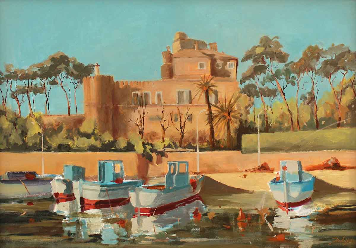 Santa Marinella - Porto, 50x70, Oil on Canvas