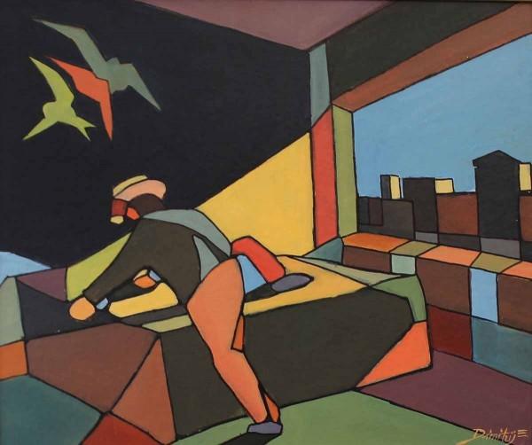 Intrusione, 50x60, Acrylic on Canvas-board