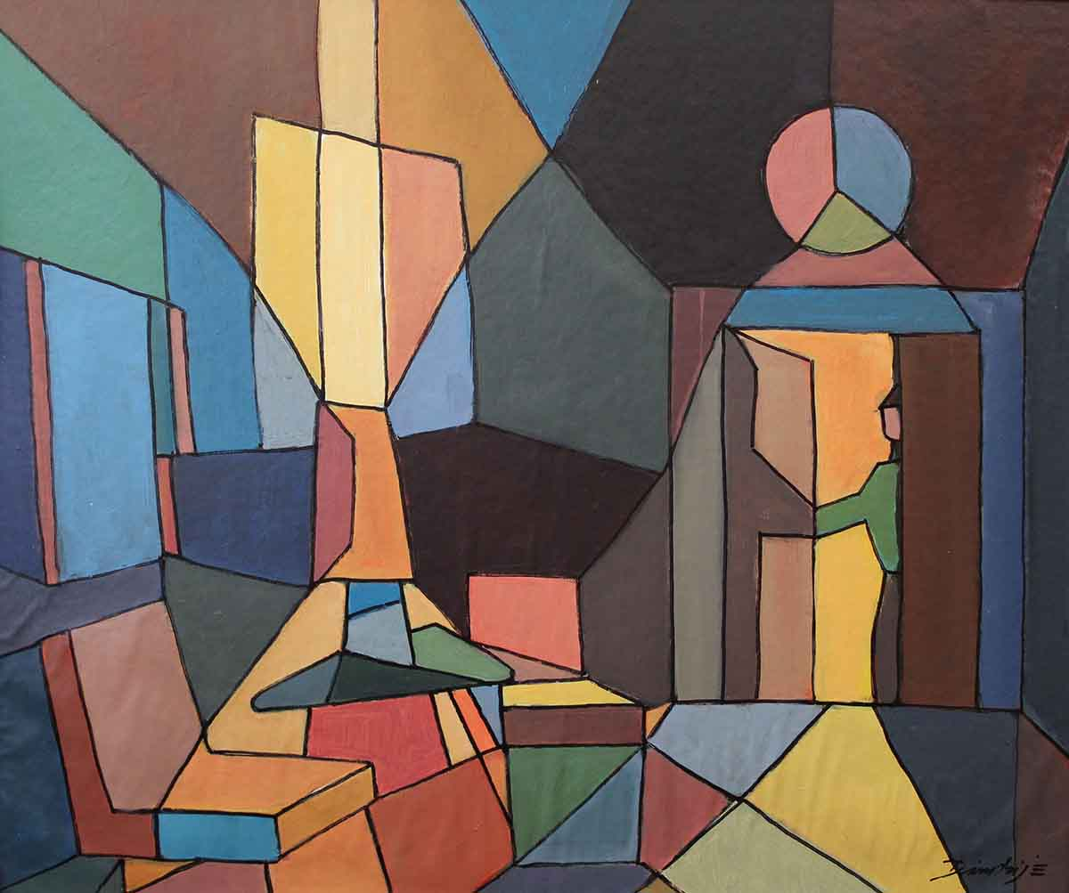 Mondo Illuso, 50x60, Acrylic on Canvas-board