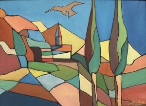 Primavera Toscana, 50x70, Acrylic on Canvas-board